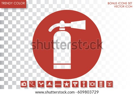 fire extinguisher icon vector...