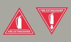 Fire extinguisher sign. Illustration vector