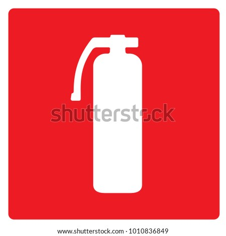 Fire Extinguisher Sign Red. Vector.