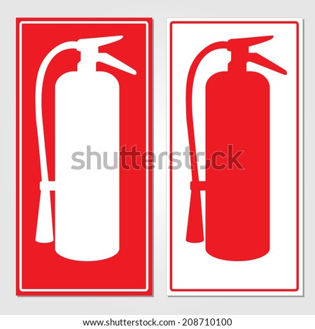 fire extinguisher signs vector illustration 208710100