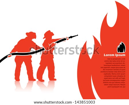 Fire fighters vector illustration