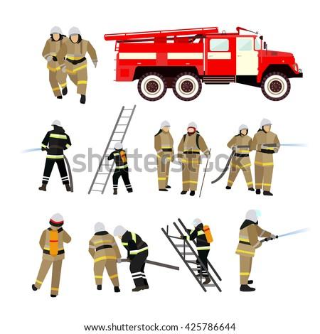 fire fighting department vector