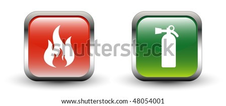Fire & Fire Extinguisher Sign Icons