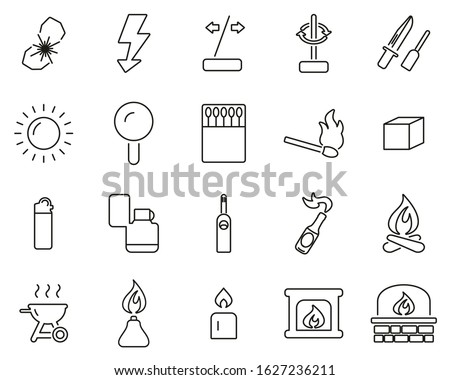 fire   fire making tools icons