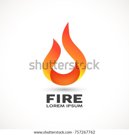 fire flame abstract icon in