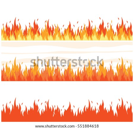 fire flame background set of