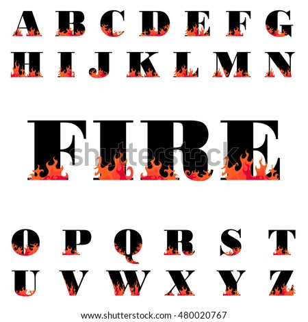 fire flame font caps  hot