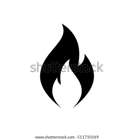 fire flame icon black icon