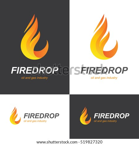 fire flame icon in a shape of