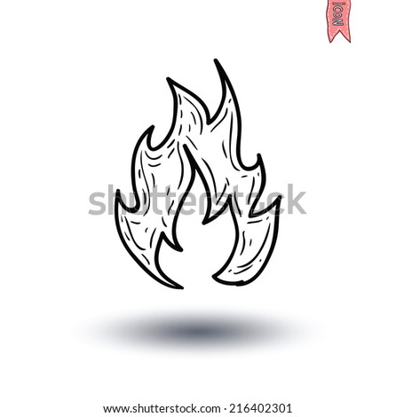 fire flame icon isolated