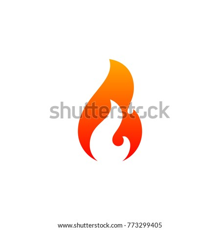 fire flame icon vector template