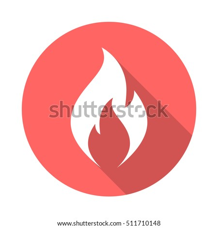 fire flame icon with long