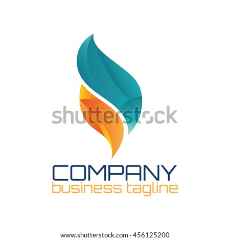 fire flame logo abstract design