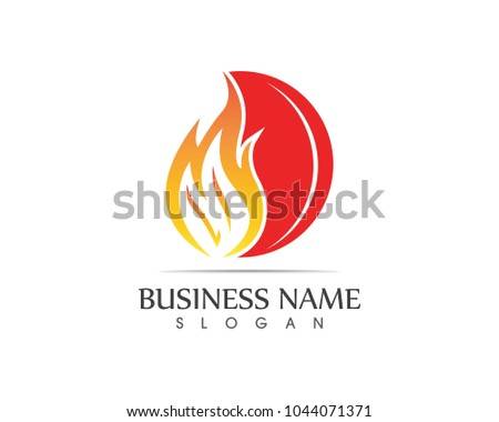 Fire flame logo design template