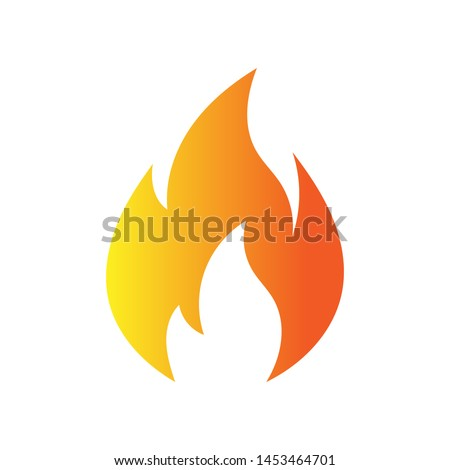 Fire flame logo vector illustration design template. vector fire flames sign illustration isolated. fire icon