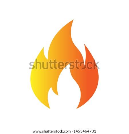 Fire flame logo vector illustration design template. vector fire flames sign illustration isolated. fire icon