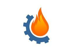 Fire, flame, oil and gas logo vector