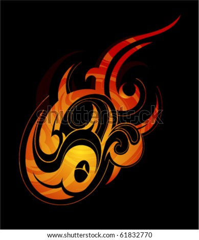 stock vector Fireflame tattoo