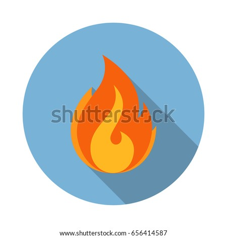 fire flame vector flat icon
