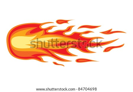 Fire flame. Vector illustration