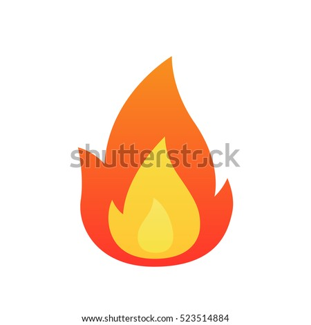 Fire flame vector isolated - Shutterstock ID 523514884