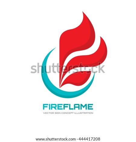 fire flame   vector logo