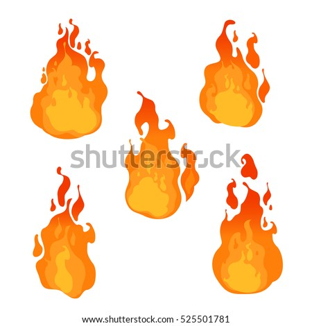 fire flames of different shapes