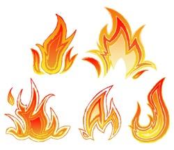 Fire flames. Sketch