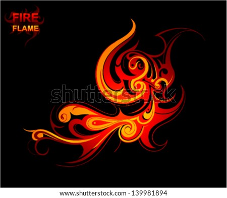 fire flames tattoo ornament