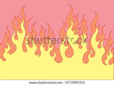 fire flat design vector