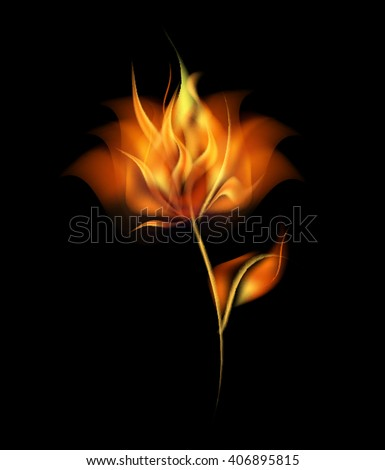 fire flower vector flame