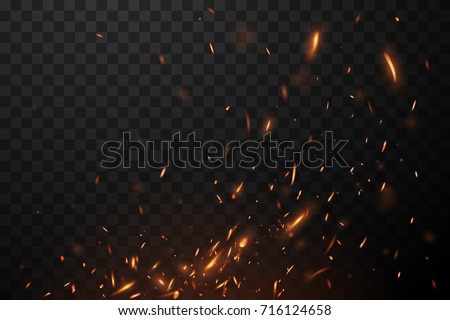 Stock Photo Fire flying sparks