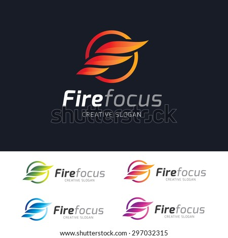 fire focus logo template