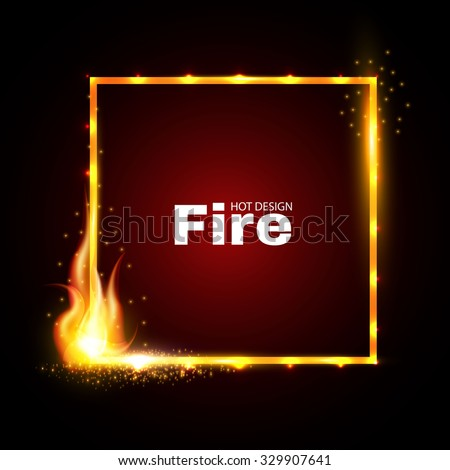 fire frame shining design