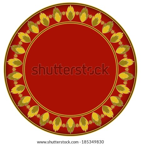 Fire gold circle frame