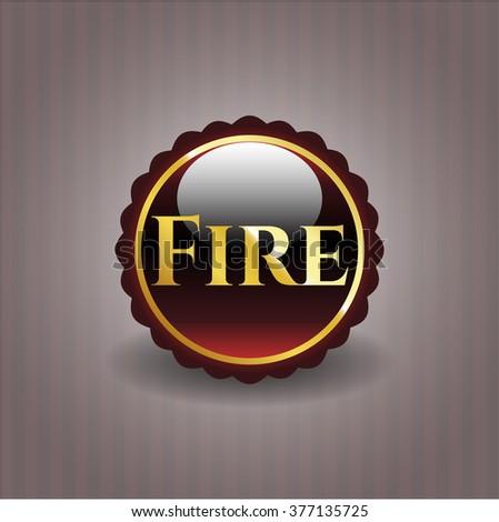 Fire gold shiny emblem