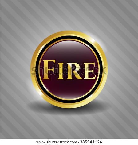 Fire golden emblem
