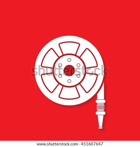 fire hose reel icon   vector