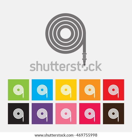 fire hose reel icon vector