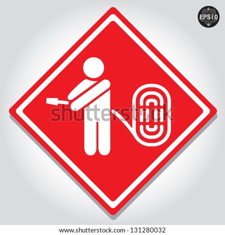 fire hose signs  vector