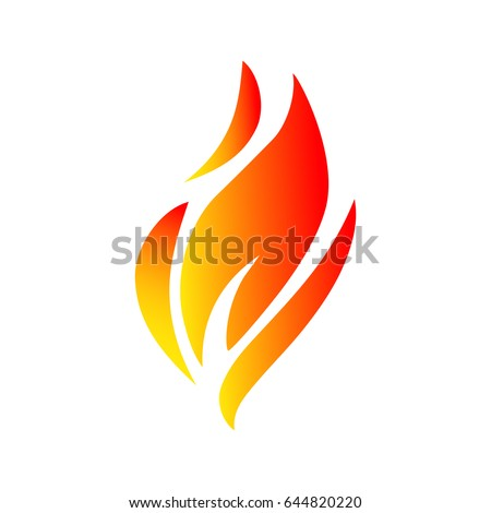 fire icon illustration  flame
