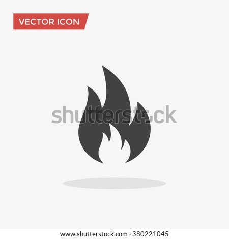 fire icon in trendy flat style