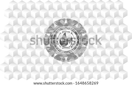 fire icon inside grey badge