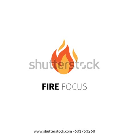 fire icon vector fire focus