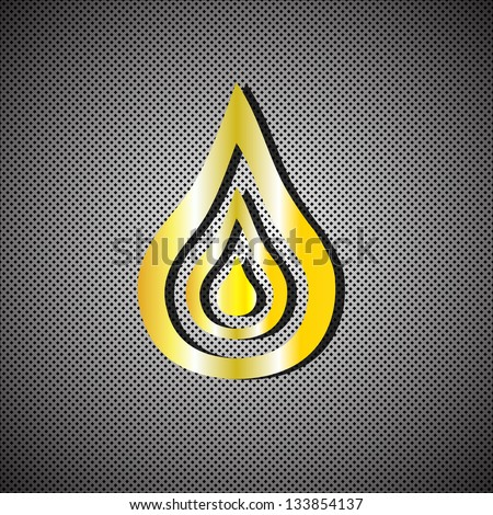 Fire icon. Vector illustration.