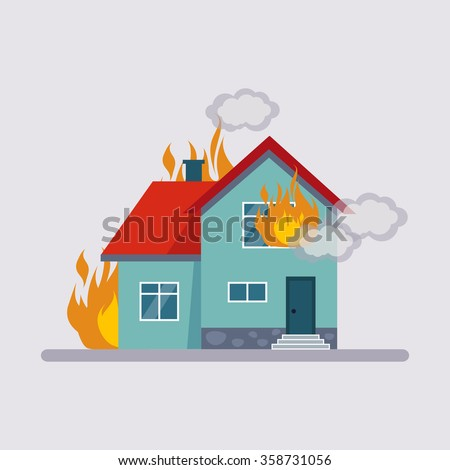 fire insurance colourful vector