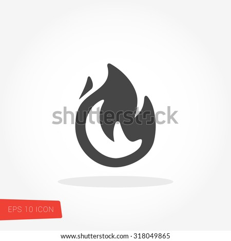 fire isolated flat web mobile