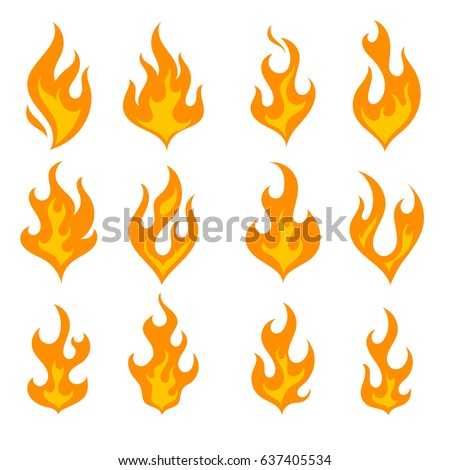 Explosion animation vector frames. Set of animation fire and ...