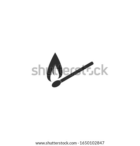 fire lighter icon vector sign