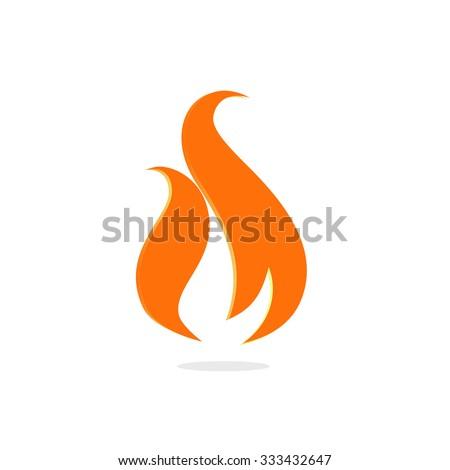 fire logo sign vector